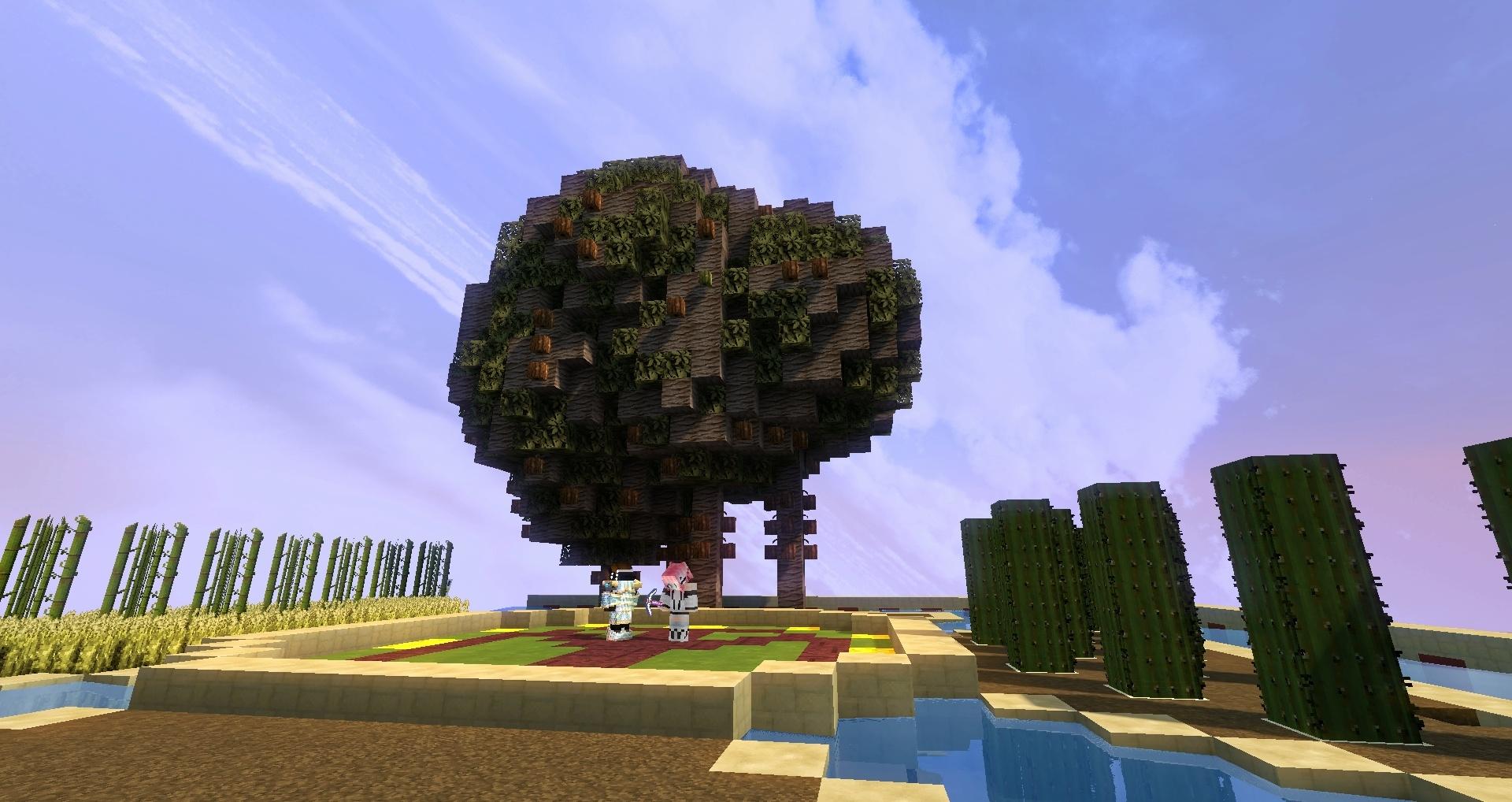 Le savez-vous au sommet du temple maya cubique se trouve cet arbre !