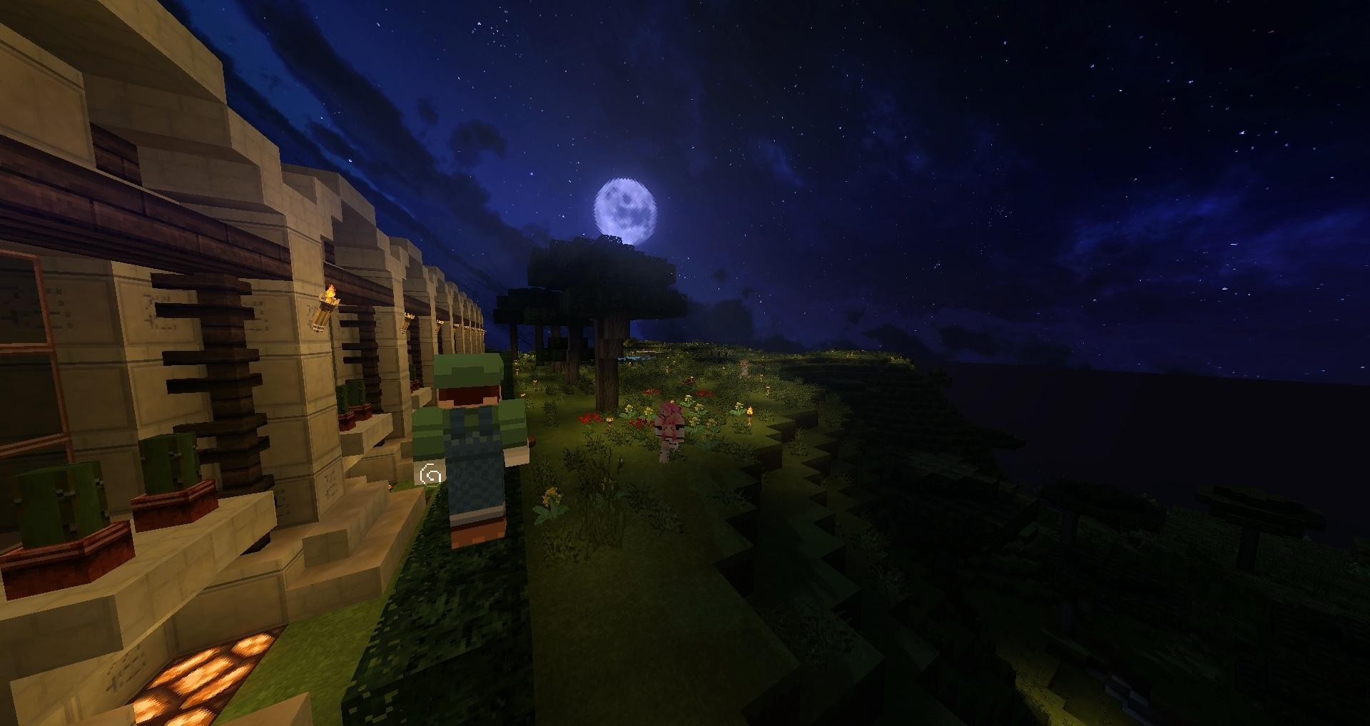 Ouais y'a Merlin l'enchanteur qui a fait pousser la lune dans le ciel !