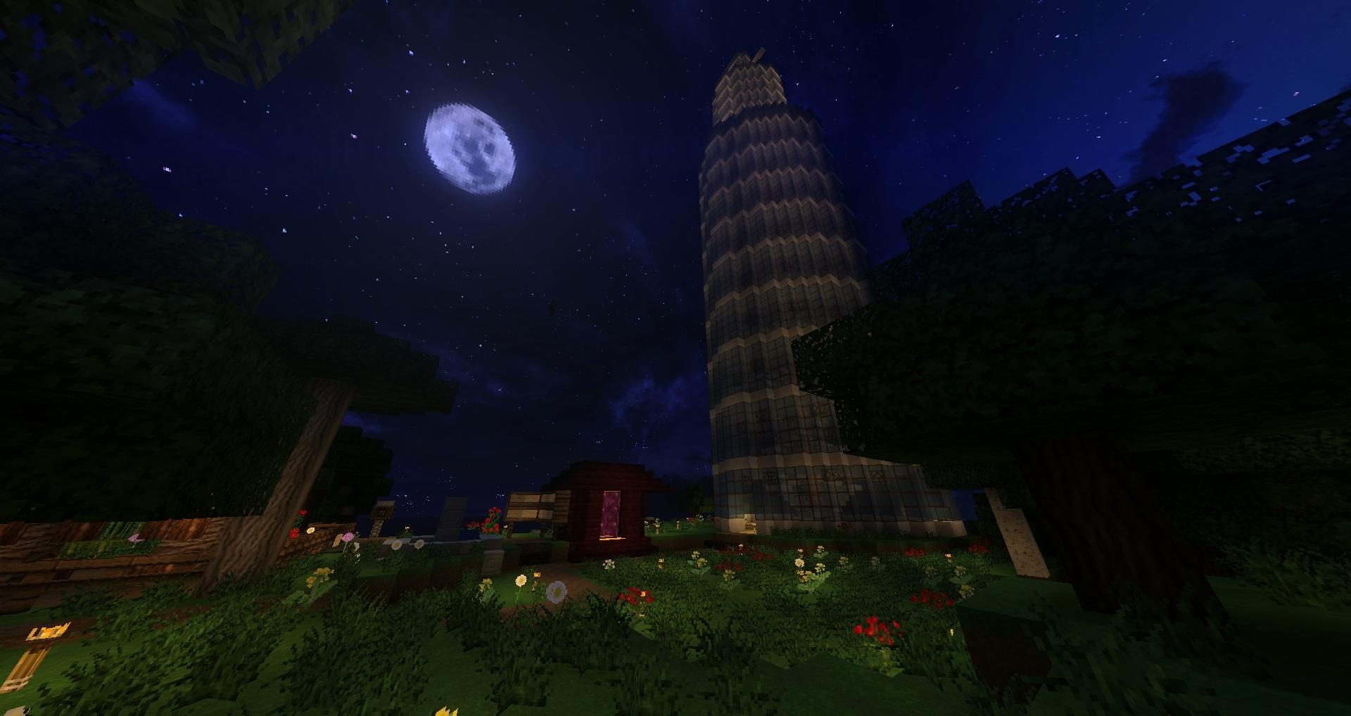 /!\ Dernier screen /!\ Une tour de verre et sa lune !