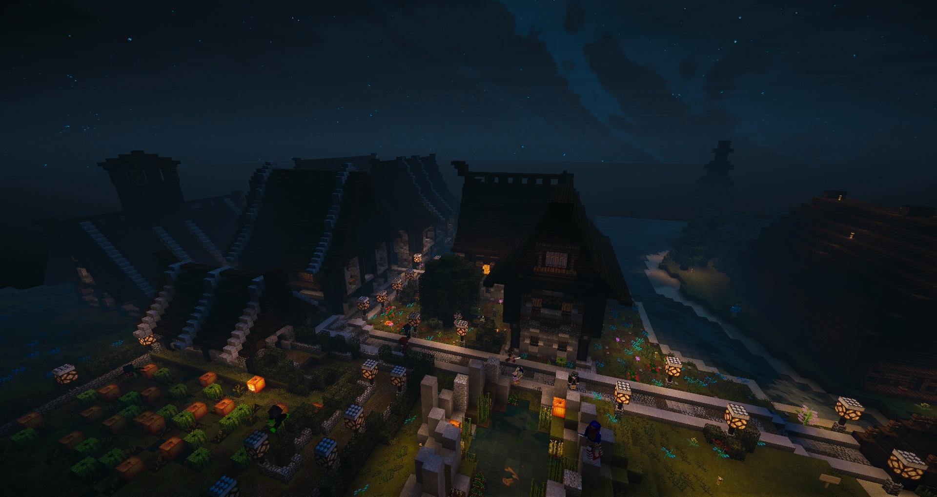 Ce village serait parfait pour un halloween non ?