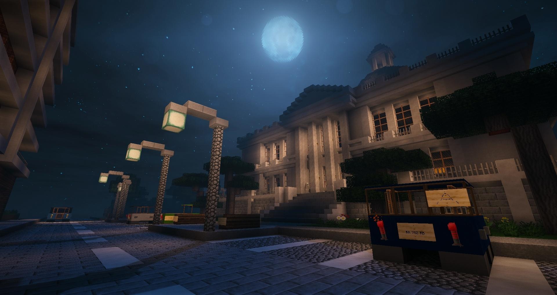 Y'a même la lune, décidément cet endroit est parfait !