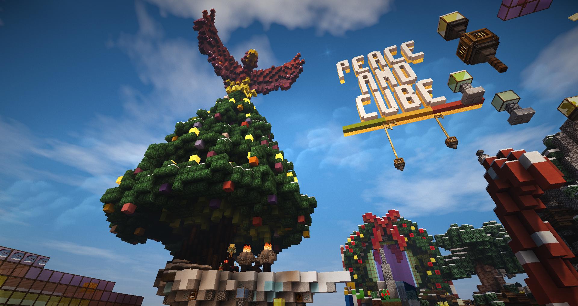 Haa !! PeacAndCube décoré pour Noël ça fait plaisir de voir ça !