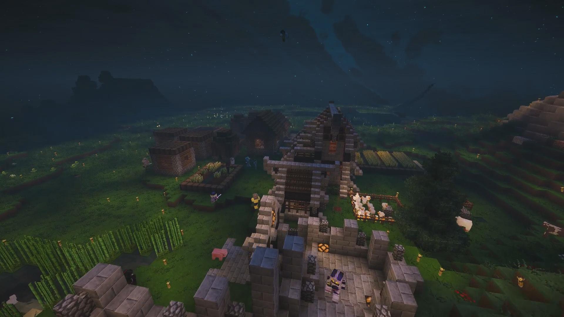 Bienvenue chez neo_light avec son château et sa ville encore en construction !