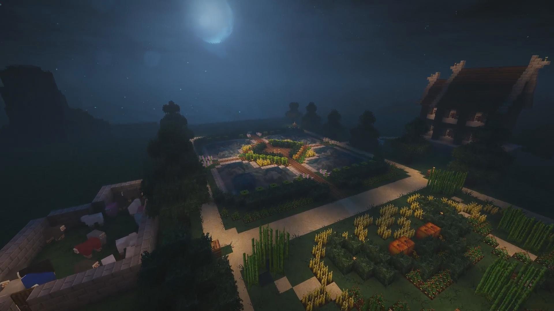 Jardin au claire de lune proposé par Spartan1023 et Scalpetro !