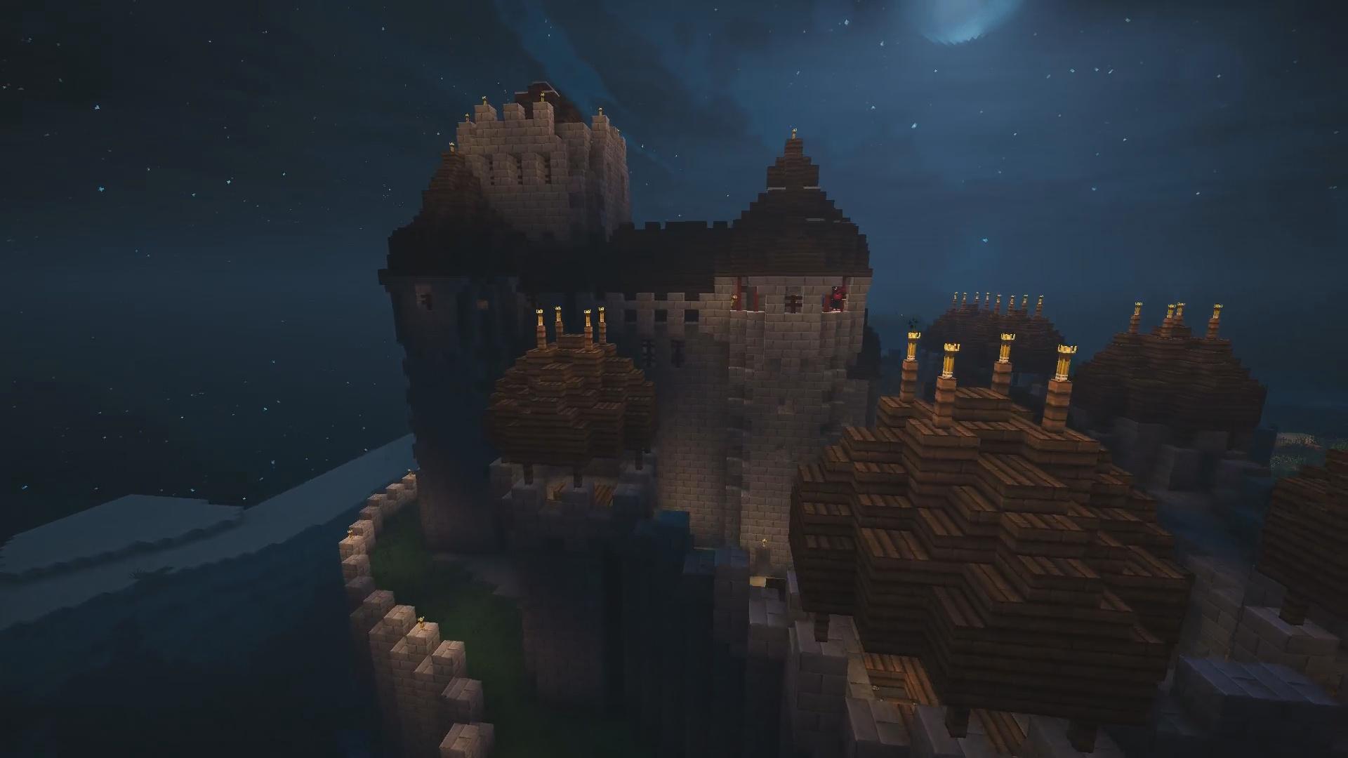 Et un château décidément y'a tout chez eux !