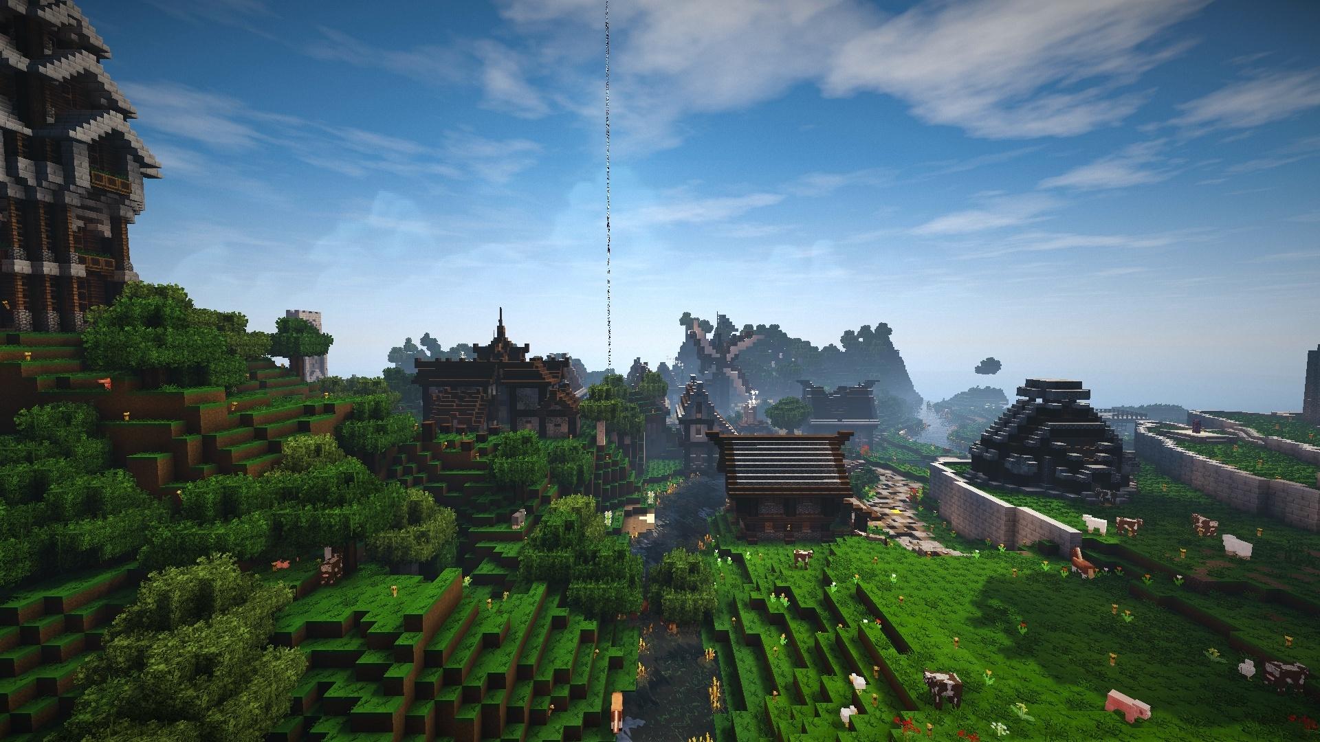 Voici le village qui accompagne la tour.