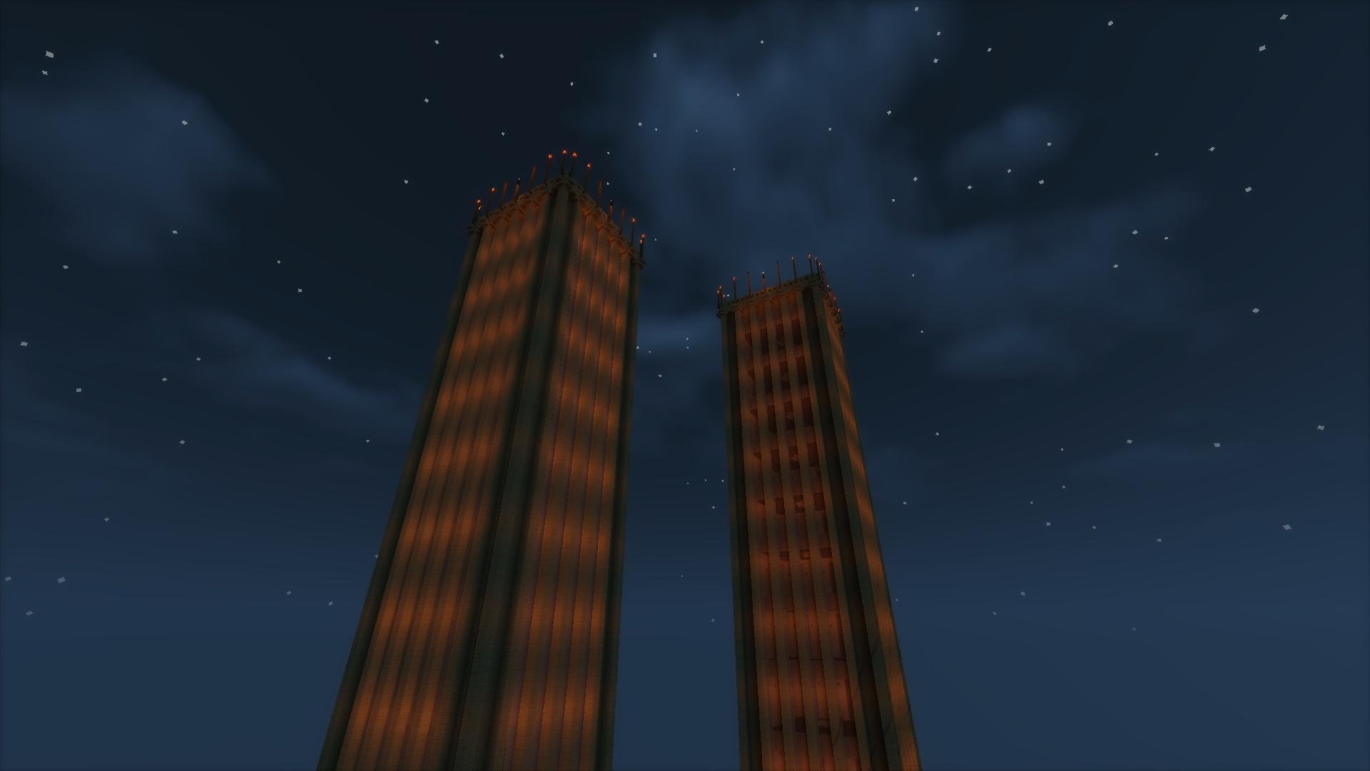 ça ne serait pas les tours du World Trade Center ça ? O=